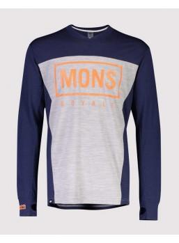 Mons Royale Redwood VLS Navy/ Grey Marl